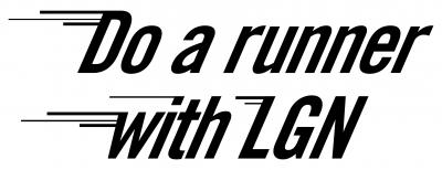 Do a runner with LGN logo