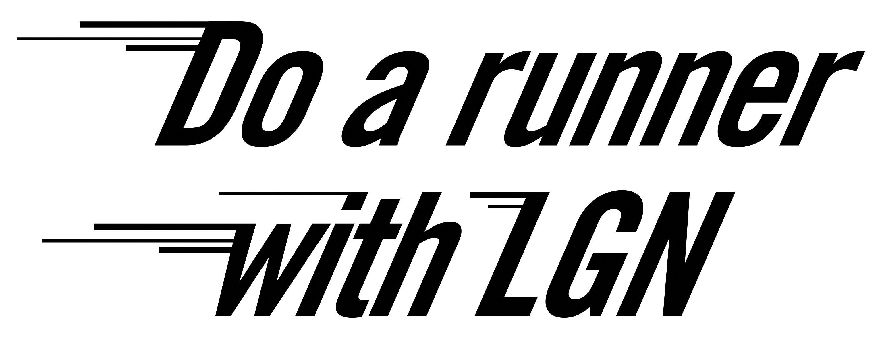 Do a runner with LGN logo